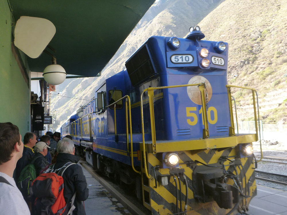 Ollantaytambo Train Station Peru